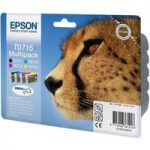 EPSON Cheetah T0715 Cyan, Magenta, Yellow & Black Ink Cartridges – Multipack, Cyan