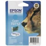 EPSON Cheetah T0712 Cyan Ink Cartridge, Cyan