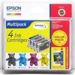 EPSON Teddybear T0615 Cyan, Magenta, Yellow & Black Ink Cartridges – Multipack, Cyan