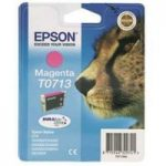 EPSON Cheetah T0713 Magenta Ink Cartridge, Magenta