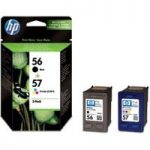 HP 56/57 Tri-colour & Black Ink Cartridges – Twin Pack, Black