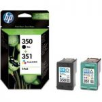 HP 350/351 Tri-colour & Black Ink Cartridges – Twin Pack, Black