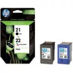 HP 21/22 Tri-colour & Black Ink Cartridges – Twin Pack, Black
