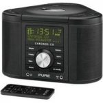 PURE Chronos CD Series II DAB Clock Radio – Black, Black