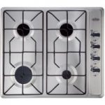 BELLING GHU60GE Gas Hob – Stainless Steel, Stainless Steel