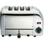 DUALIT 40352 Vario 4-Slice Toaster – Stainless Steel, Stainless Steel