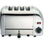 DUALIT 40352 Vario 4-Slice Toaster – Stainless Steel, Stainless Steel