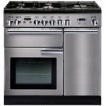 Rangemaster Professional 90 Dual Fuel Range Cooker – Stainless Steel, Stainless Steel