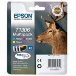 EPSON Stag T1306 Cyan, Magenta & Yellow Ink Cartridges – Multipack, Cyan
