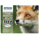 EPSON Fox T1285 Cyan, Magenta, Yellow & Black Ink Cartridges – Multipack, Cyan