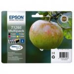EPSON Apple T1295 Cyan, Magenta, Yellow. & Black Ink Cartridges – Multipack, Cyan