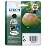EPSON Apple T1291 Black Ink Cartridge, Black