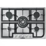 HOOVER HGH75SQCX Built-in Gas Hob – Stainless Steel, Stainless Steel