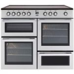 FLAVEL MLN10CRS Electric Ceramic Range Cooker – Silver & Chrome, Silver