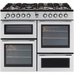 FLAVEL MLN10FRS Dual Fuel Range Cooker – Silver & Chrome, Silver
