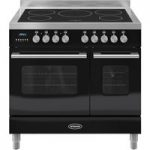 BRITANNIA Delphi 90 RC9TIDEK Electric Induction Range Cooker – Gloss Black & Stainless Steel, Stainless Steel