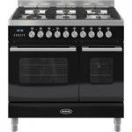 BRITANNIA Delphi 90 Twin Dual Fuel Range Cooker – Gloss Black, Black