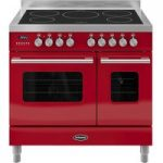 BRITANNIA RC9TIDERED Electric Induction Range Cooker – Gloss Red & Stainless Steel, Stainless Steel