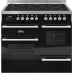 BRITANNIA RC10XGIDEK Electric Induction Range Cooker – Gloss Black & Stainless Steel, Stainless Steel