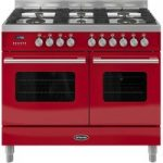 BRITANNIA Delphi RC10TGDERED Dual Fuel Range Cooker – Red, Red