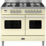 BRITANNIA Delphi RC10TGDECR Dual Fuel Range Cooker – Gloss Cream & Stainless Steel, Stainless Steel