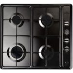 NEW WORLD NWGHU601 Gas Hob – Black, Black