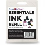 ESSENTIALS Universal Cyan, Magenta & Yellow Ink Refill Kit, Cyan