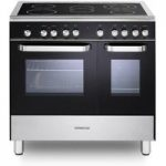 KENWOOD CK408/1 Electric Ceramic Range Cooker – Black, Black