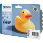 EPSON Ducks T0556 Cyan, Magenta, Yellow and Black Ink Cartridges – Multipack, Cyan