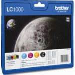 BROTHER LC1000 Cyan, Magenta, Yellow & Black Ink Cartridges – Multipack, Cyan