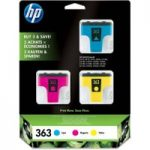 HP 363 Cyan, Magenta & Yellow Ink Cartridges – Multipack, Cyan