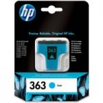 HP 363 Cyan Ink Cartridge, Cyan