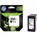 HP 350XL Black Ink Cartridge, Black