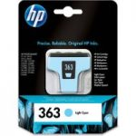 HP 363 Light Cyan Ink Cartridge, Cyan