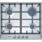 BOSCH Classixx PCP615B90B Gas Hob – Brushed Steel, Brushed Steel