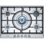 BOSCH PCQ715B90E Gas Hob – Brushed Steel, Brushed Steel