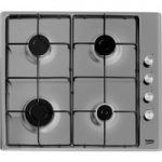 BEKO HIZG64120SX Gas Hob – Stainless Steel, Stainless Steel