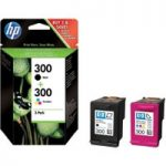 HP 300 Tri-colour & Black Ink Cartridges – Multipack, Black
