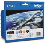BROTHER LC985VALBP Cyan, Magenta, Yellow & Black Ink Cartridges – Multipack, Cyan
