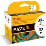 KODAK 30 Series Tri-colour & Black Ink Cartridge – Twin Pack, Black