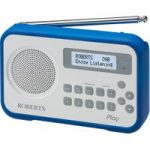 ROBERTS Play Portable DAB Radio – White & Blue, White & Blue