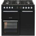 LEISURE AL90F230K Dual Fuel Range Cooker – Black, Black