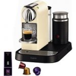 NESPRESSO 11301 Nespresso CitiZ & Milk Coffee Machine – Cream, Cream