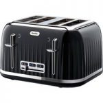 BREVILLE Impressions VTT476 4-Slice Toaster – Black, Black