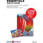 ESSENTIALS A4 / 100 x 150 mm Photo Paper Combi Pack – 40 Sheets