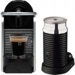 NESPRESSO 11323 Nespresso Pixie Coffee Machine & Aeroccino – Aluminium