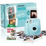 FUJIFILM Instax Mini 8 Instant Camera & 10 Shot Bundle – Blue, Blue