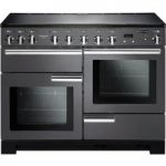 RANGEMASTER Professional Deluxe 110 Electric Induction Range Cooker – Slate & Chrome