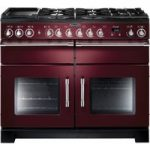 RANGEMASTER Excel 110 Dual Fuel Range Cooker – Cranberry & Chrome, Cranberry