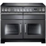 RANGEMASTER Excel 110 Electric Ceramic Range Cooker – Slate & Chrome